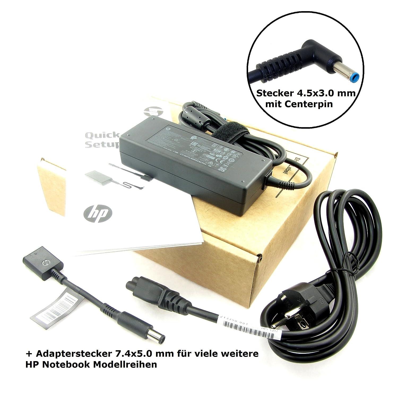 Original Cargador para HP ADP de 90wh D, ppp012d de S, 753560 – 003, 710413 – 001 con 19.5 V, 4.62 A (90 W) con conector 4.5 x 3.0 mm y bladecente ...