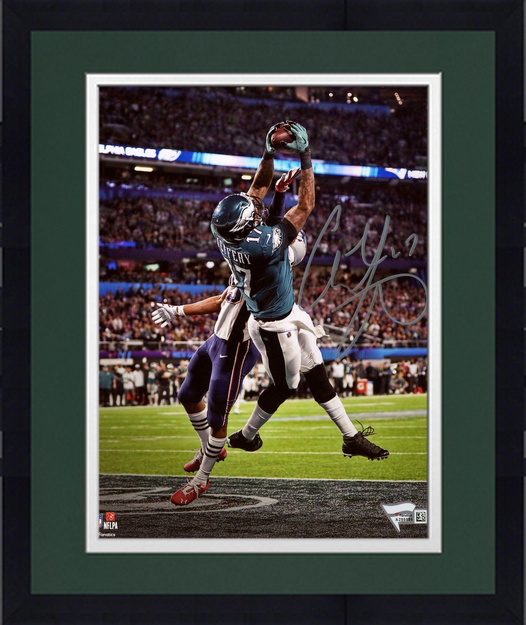 "Framed Alshon Jeffery Philadelphia Eagles Autographed 8"" x 10"" Super Bowl LII Champions Photograph Fanatics Authentic Certified"