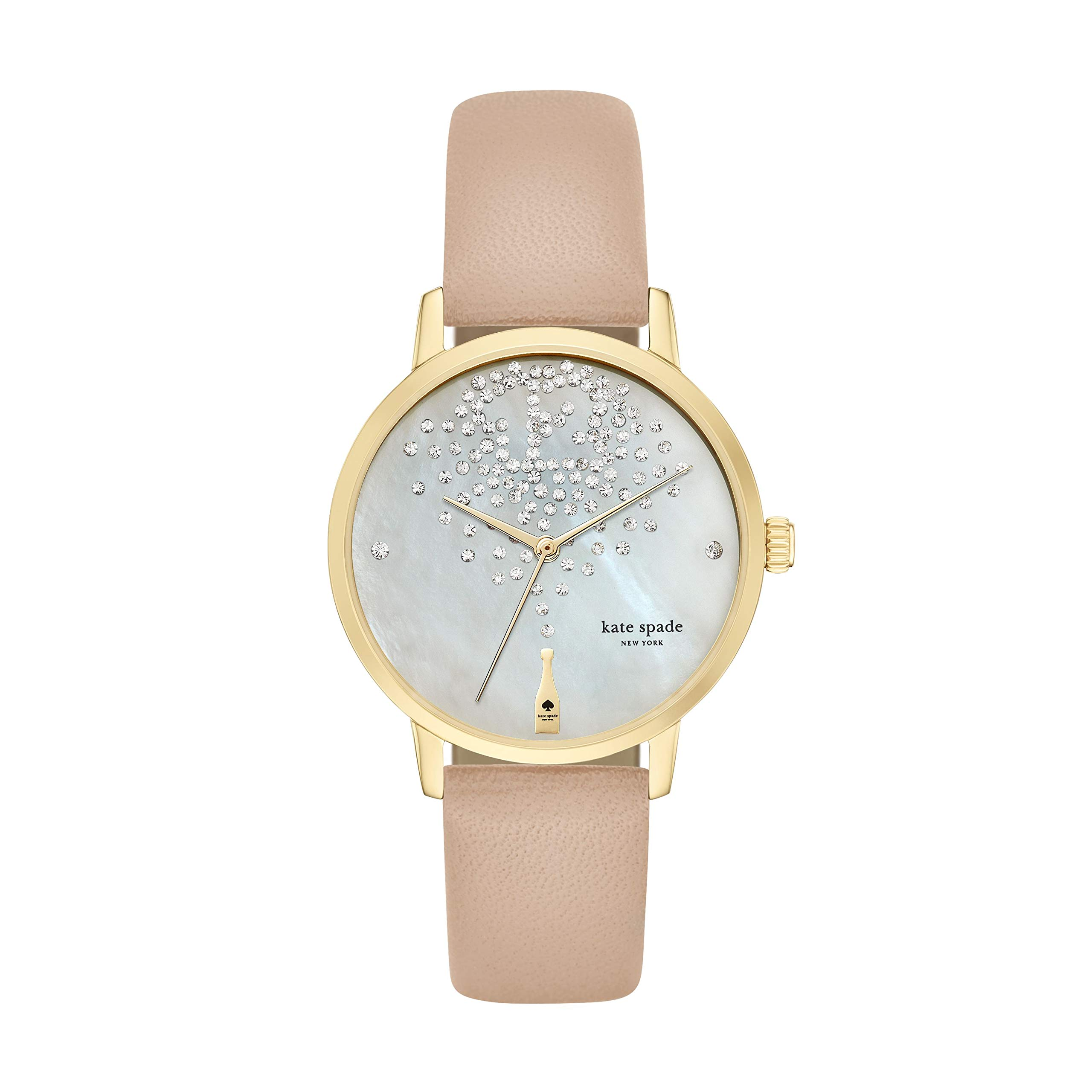 kate spade new york Women's KSW1015 Metro Watch With Beige Leather Band by Kate Spade New York