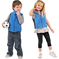 ZooVaa Weighted Sensory Vest for Kids – Children's Compression Vest w/Adjustable Removable Weights, Microfiber Fleece