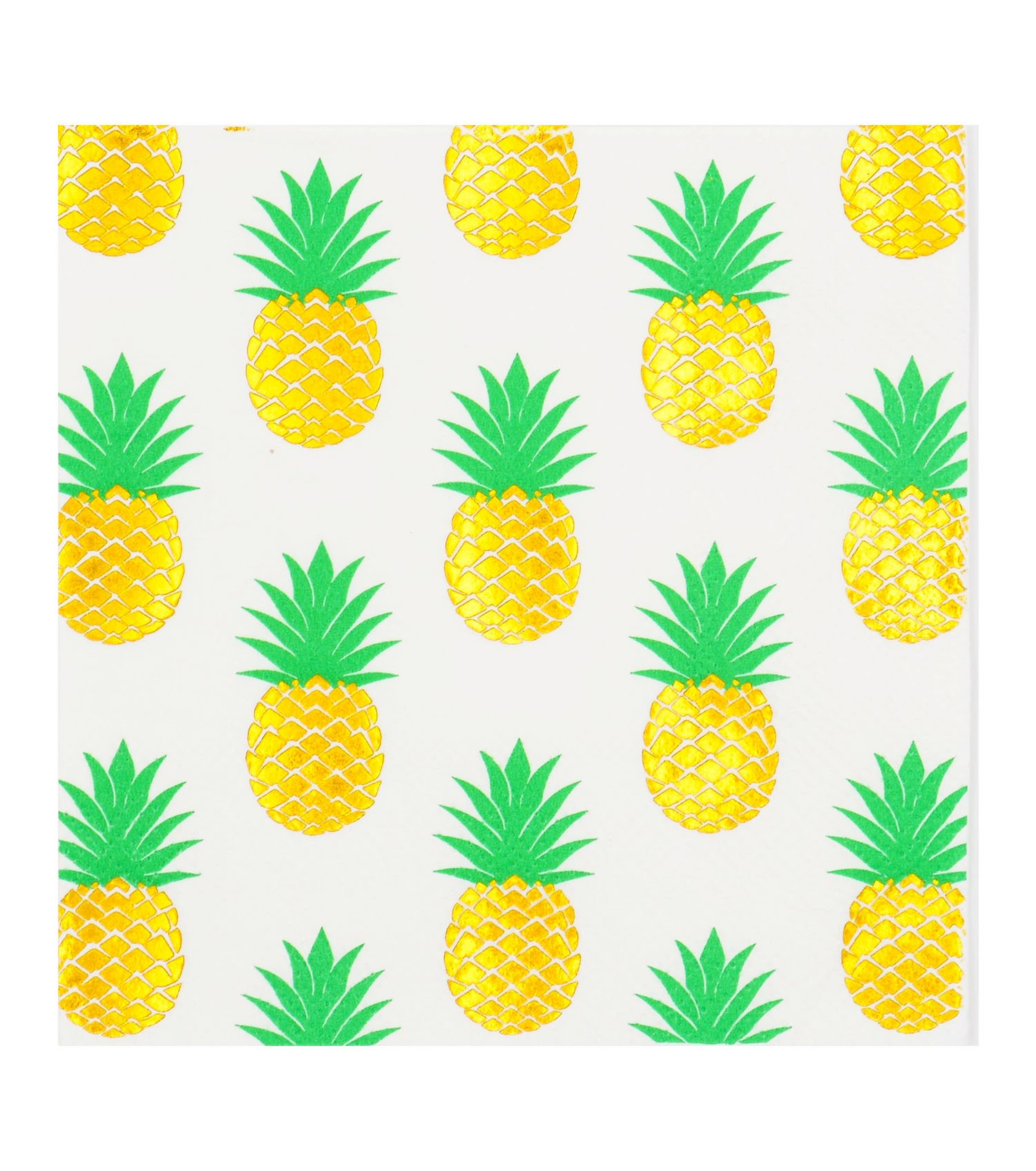 LIHI 40count Luncheon Napkins, 3-Ply, Pack of 40(2 Packs of 20 Napkins) Beverage &Cocktail Napkins,Decorative Paper Napkins 5x5 inch,ideal for Wedding, Party, Birthday,Decoupage,gold pineapple,summer