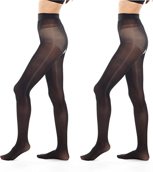 Women Lady Shiny Sheer Glossy Tights Pantyhose Lingerie Crotchless Bodystocking