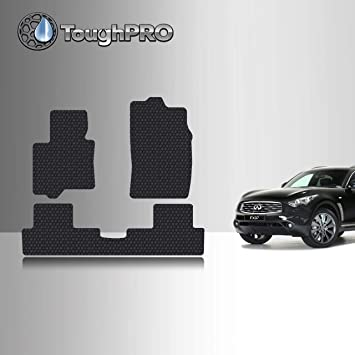 2018 ToughPRO Cargo//Trunk Mat Compatible with Infiniti QX70 - Black Rubber Heavy Duty - 2019 2016 2015 All Weather 2014 Made in USA 2017