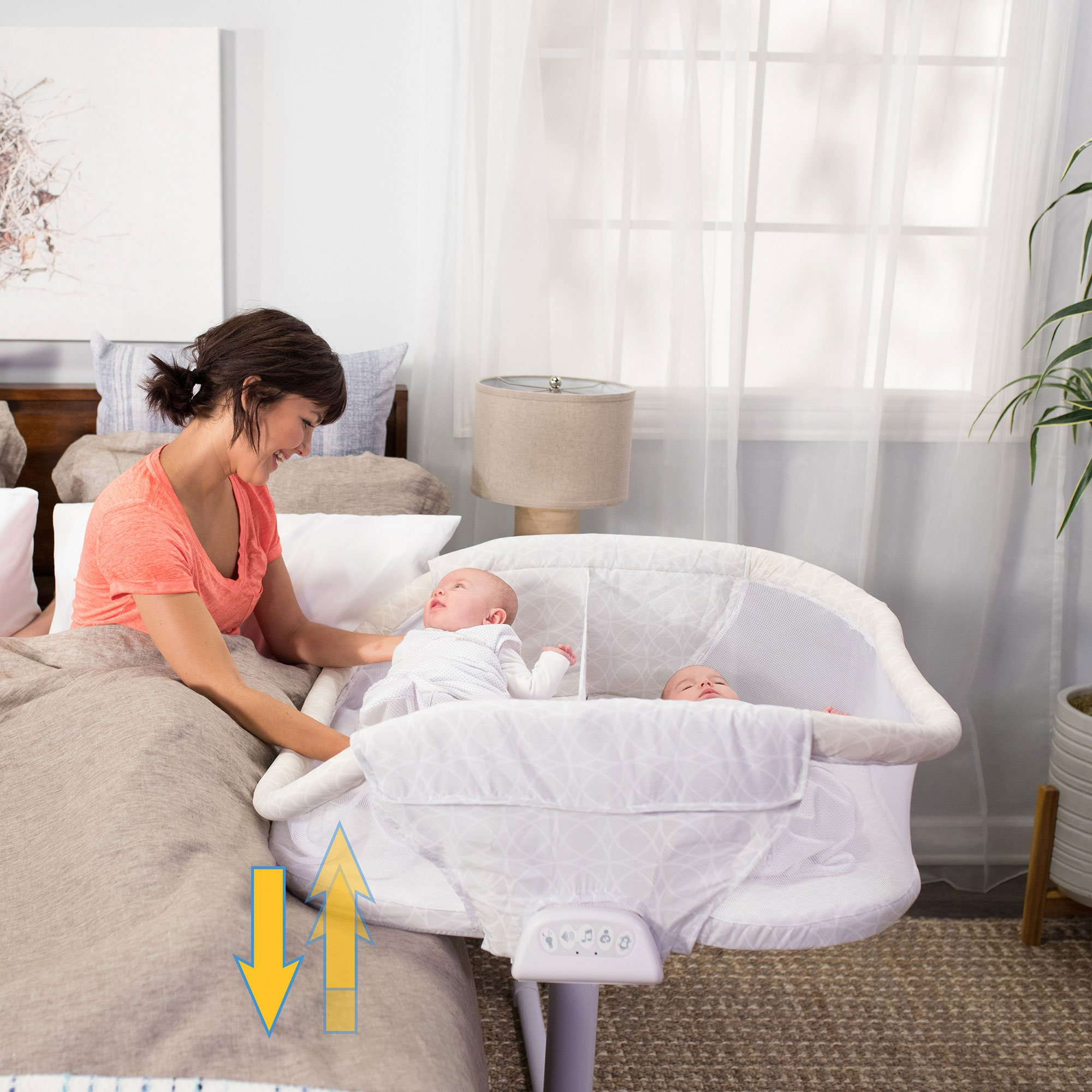 HALO Bassinest Twin Sleeper Double Bassinet – Premiere Series, Sand Circle by Halo (Image #4)