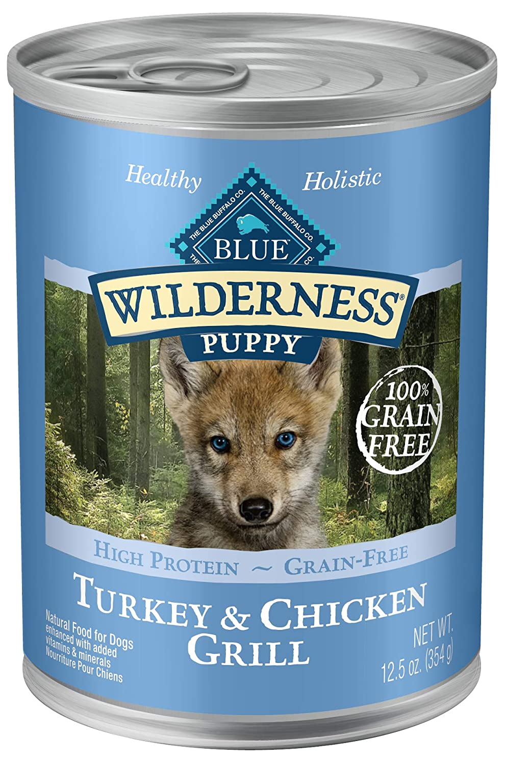 10. Blue Buffalo Wilderness Puppy Canned Dog Food