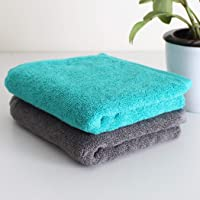 Heelium Bamboo Hand Towel for Sports & Gym, 2 Pieces, Ultra Soft, Super Absorbent, Antibacterial, 600 GSM, 25 inch x 15 inch