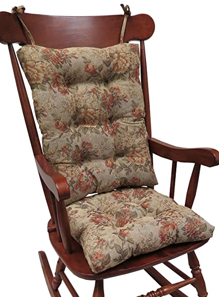 Good Klear Vu The Gripper Non Slip Somerset Tapestry Jumbo Rocking Chair Cushions