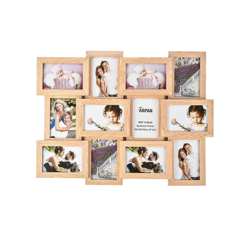 ARPAN Bilderrahmen, verschiedene Größen, Holz, für 12 Fotos im ...
