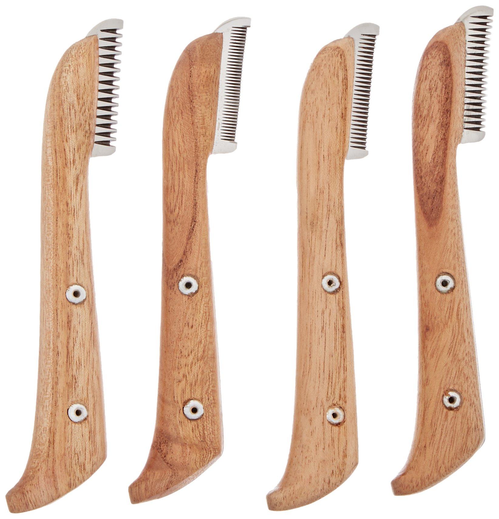 TAMSCO Stripping Knives Set Of 4 In Felt Box Felt Box Stainless Steel Stainless Steel