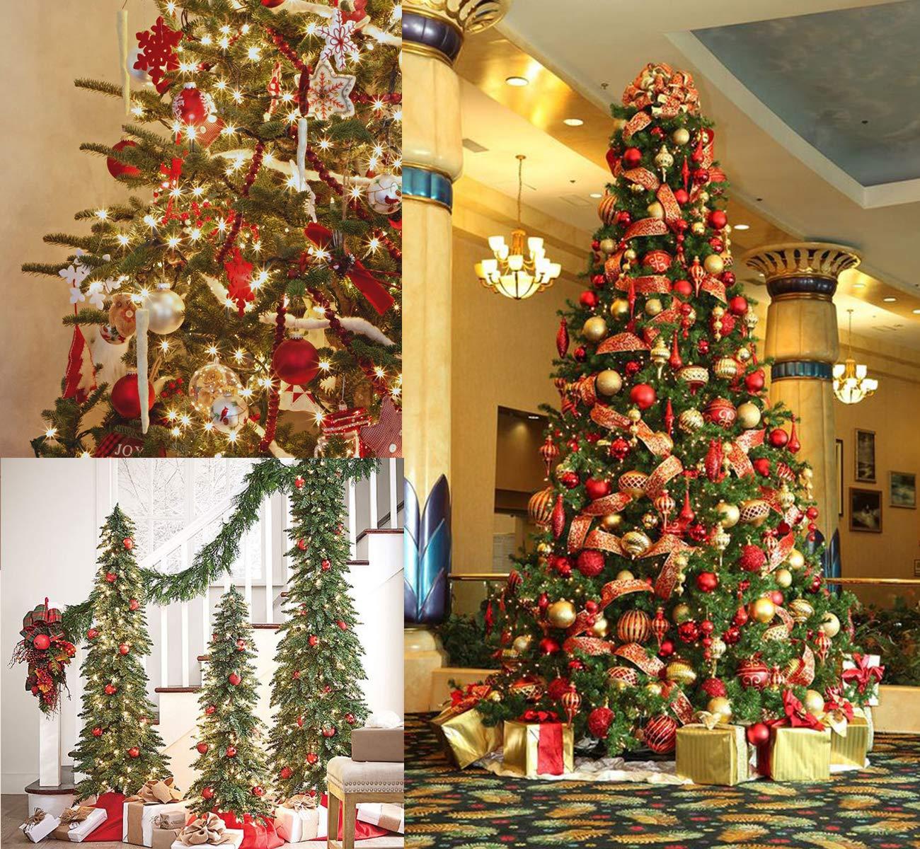 Scintillanti Lucide opache Decorazioni per Albero di Natale Fino a /Ø 6 cm DStech 100 Palline di Natale cangianti