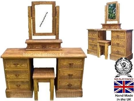 Tocador rustico stunning mueble de tocador de estilo for Tocador de madera maciza