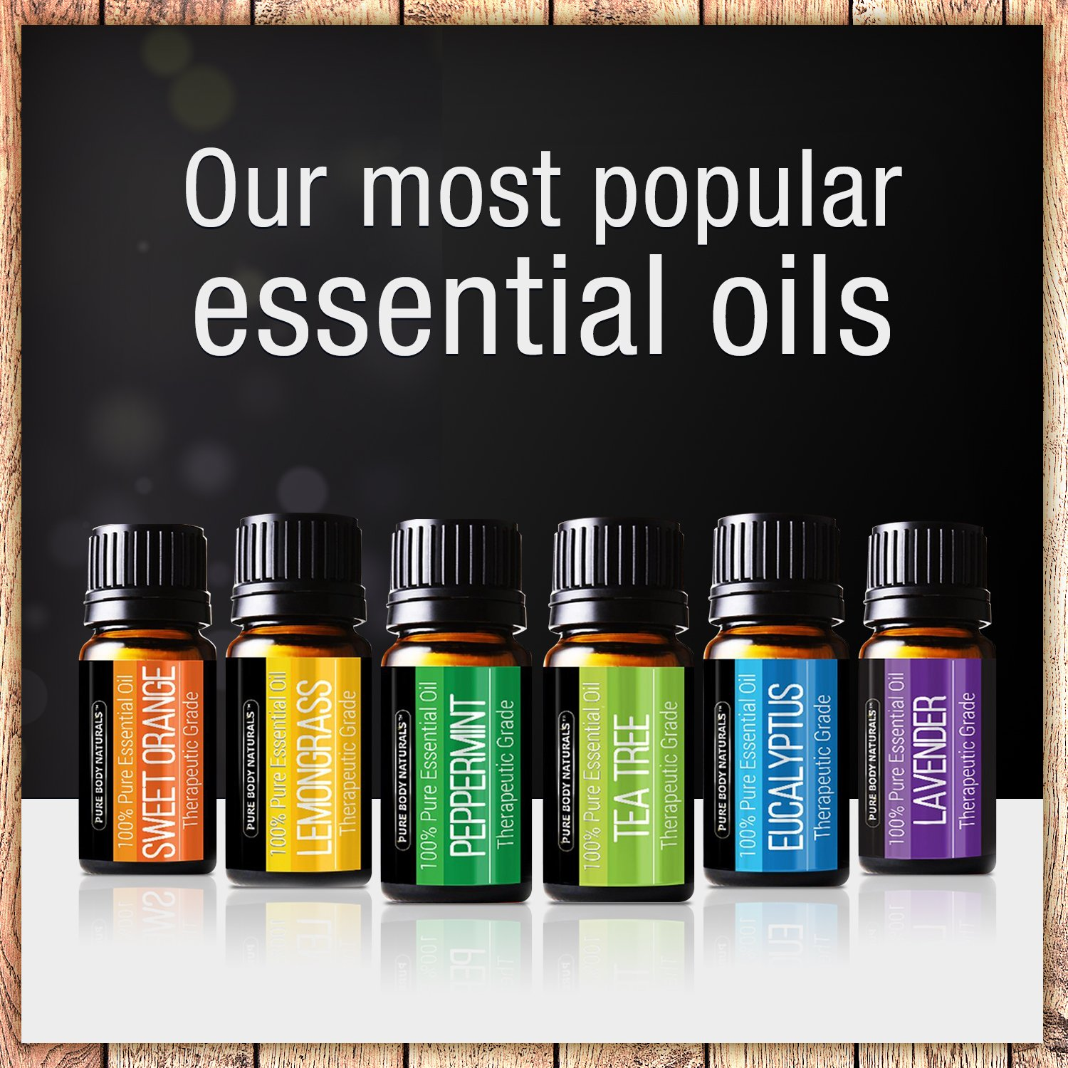 Pure Body Naturals Essential Oils Top