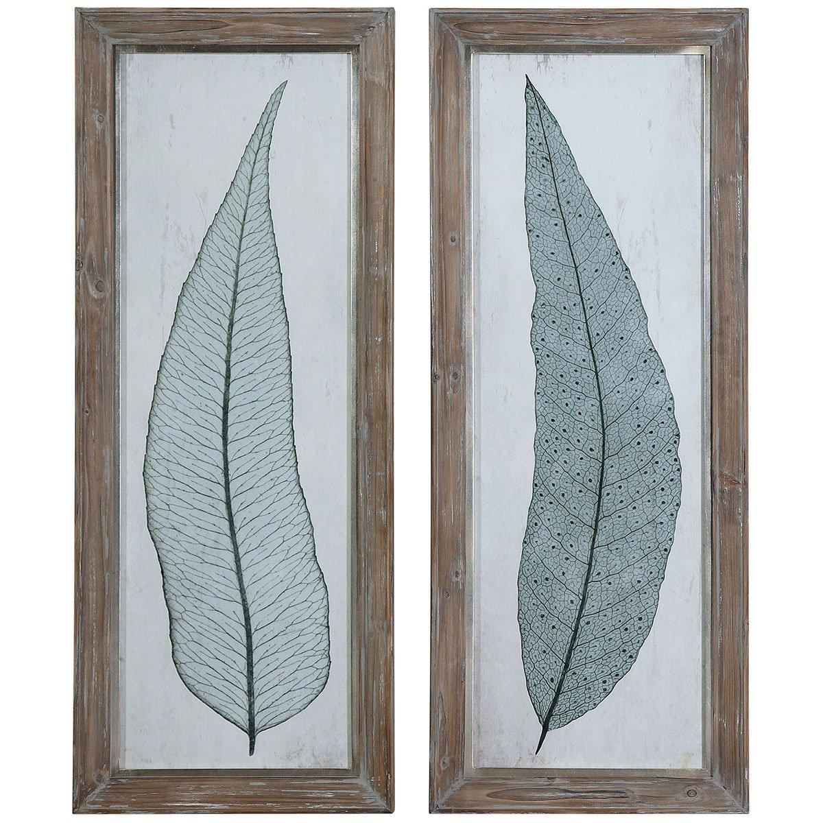 Amazon.com: Uttermost 41514 Tall Leaves Framed Art (Set of 2 ...