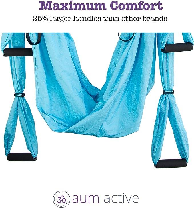 Amazon.com: Aum - Juego de hamaca para yoga activo: columpio ...