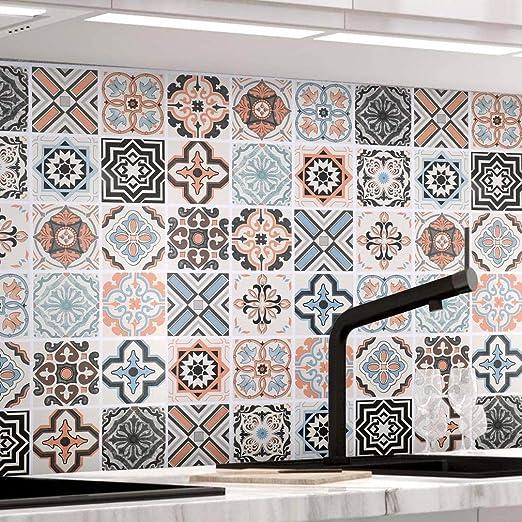 Kuchenruckwand Fliesenaufkleber 61 X 500cm Mosaikfliese Klebefolie Fliesen Fur Kuche Und Bad Pvc Deko Fliesenfolie Kacheldekor Typ B Amazon De Baumarkt