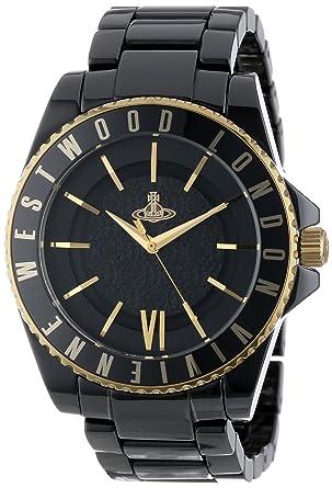 aac4ece1c6 Vivienne Westwood ヴィヴィアンウエストウッド アナログ 腕時計 メンズ オーブ ブラック×ゴールド VV048GDBK [並行輸入