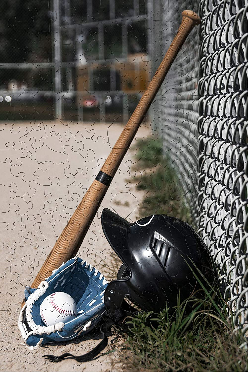 Wooden Jigsaw Puzzles - Baseball - 193 Irregular Pieces - Colorful Puzzle for a Real Baseball Lover – BasisWood