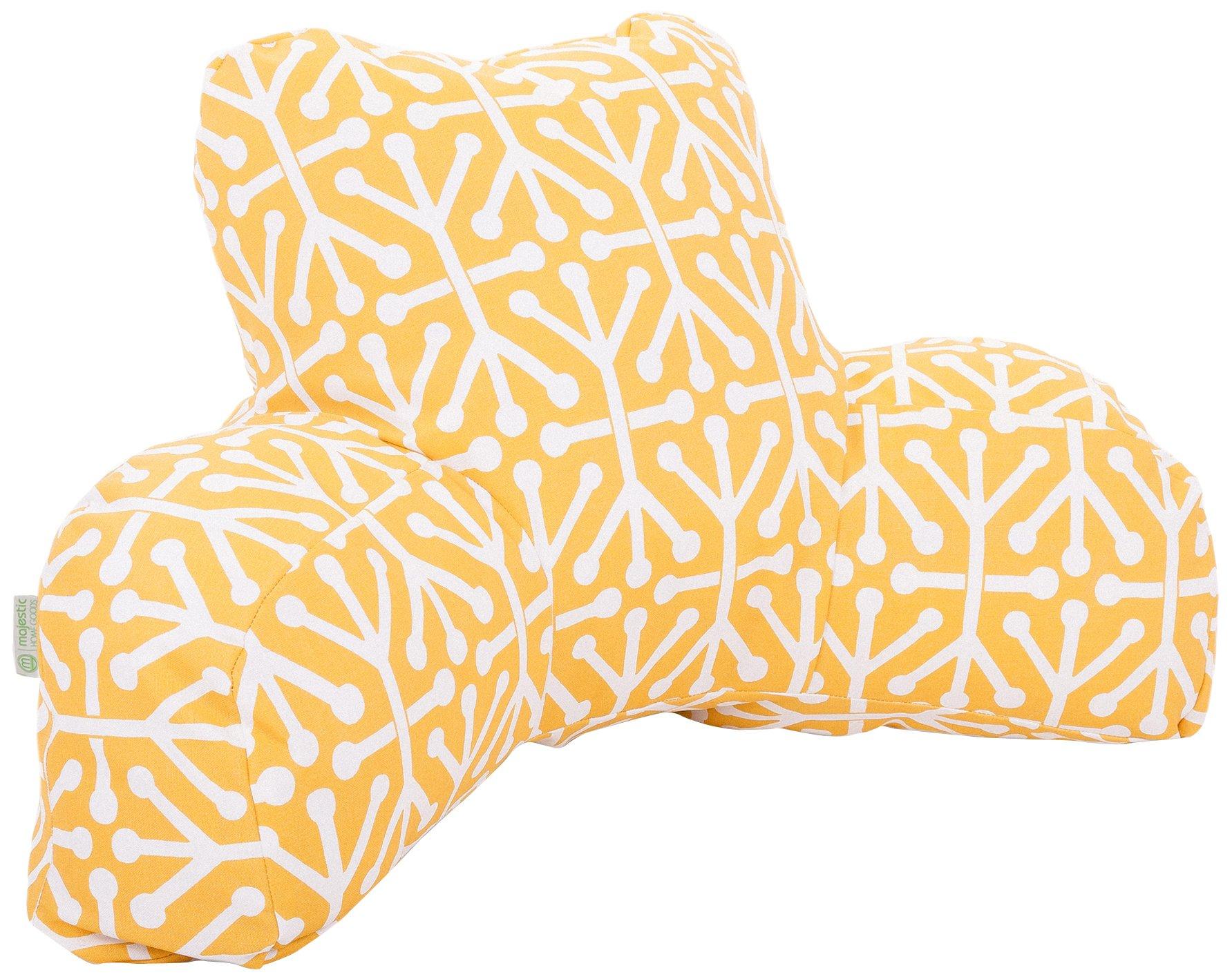 Majestic Home Goods Aruba Reading Pillow, Citrus