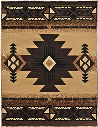 Rugs 4 Less Collection Southwest Native American Indian Area Rug Design R4L 318 Beige Berber 8 X10