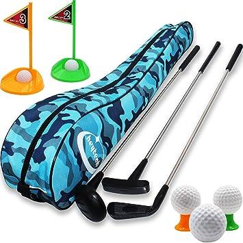 Amazon.com: Juego de palos de golf para niños de Heytech ...