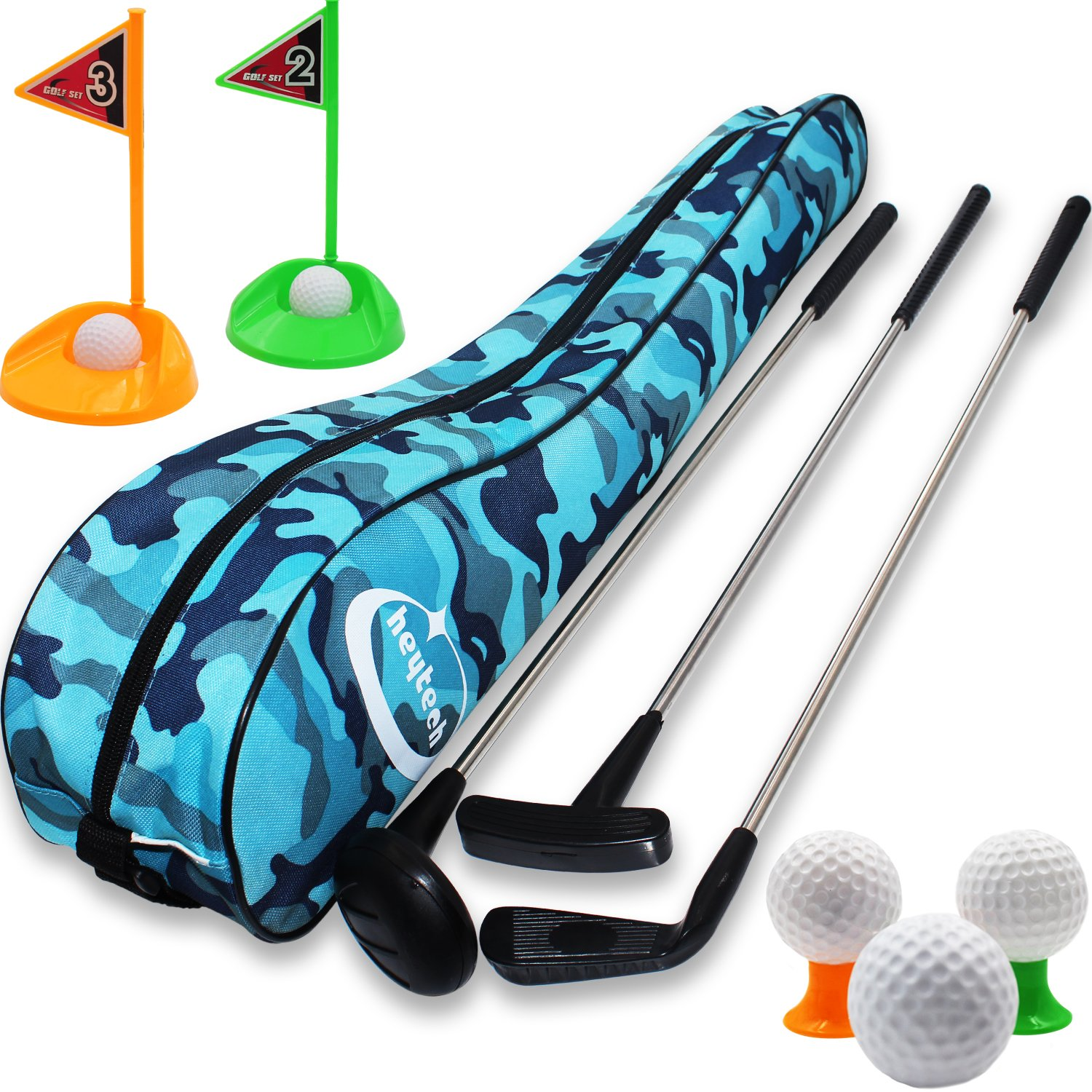 Amazon.com: heytech Kid\'s Toy Golf Clubs Set Deluxe Outdoor Golf Toy ...