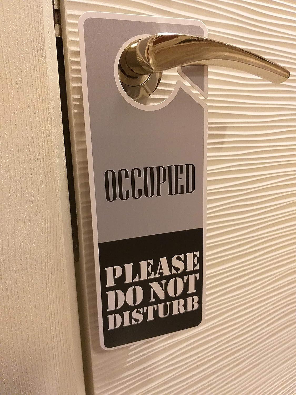 Amazon.com: Clever Signs Ocupado – No molestar señal, percha ...