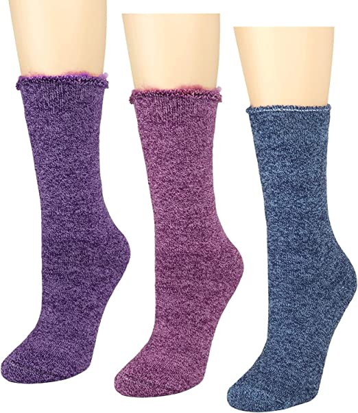 3 Pair Womens Heated Thermal Insulated Winter Sox Thermal Socks