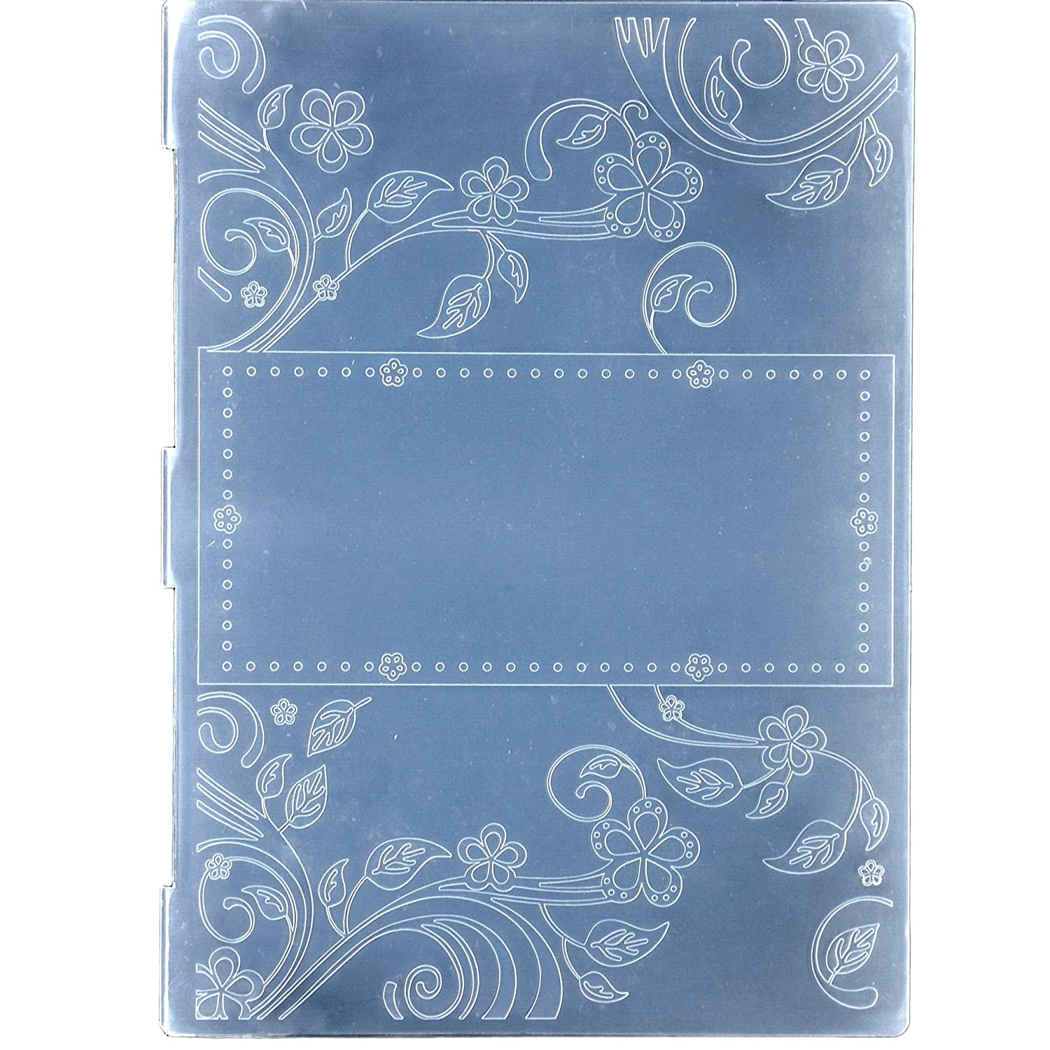 Kwan Crafts A4 Size Leaves Flowers Frame Plastic Embossing Folders for Card Making Scrapbooking and Other Paper Crafts 29.7x21cm