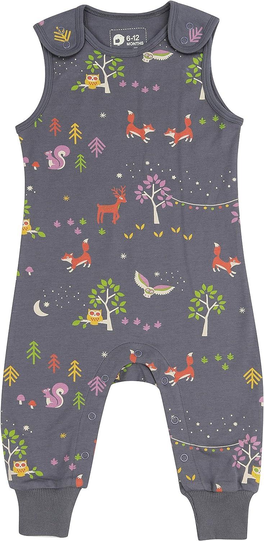 Koala Print for Girls Comfy Jersey Toddler Organic Cotton Unisex Orangutan Boys Soft Dungarees for Baby
