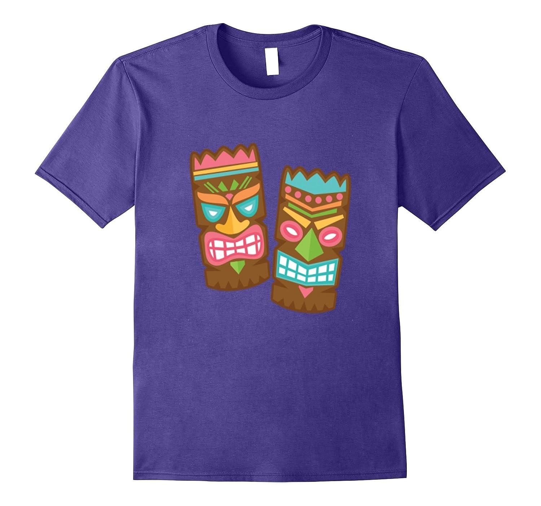 Aloha Hawaii T shirt - Two Tiki Heads are better than one-TH