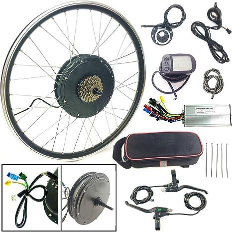 Schuck Kit de conversión de Bicicleta eléctrica 700C 48V1000W Rueda Trasera Bicicleta eléctrica KTLCD5 Pantalla,Motor de Cubo de Pantalla: Amazon.es: Deportes y aire libre