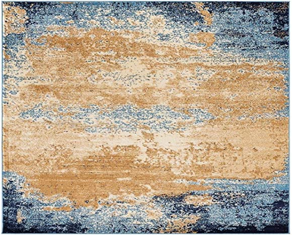 Luxe Weavers Howell Collection Abstract Blue 5×7 Area Rug