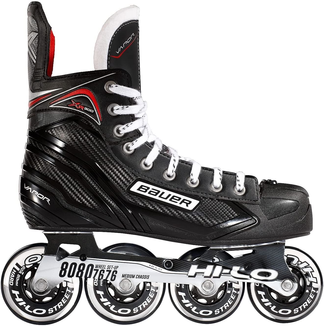Bauer Vapor Xr300 Senior Inline Hockey Skate Black Silver 7