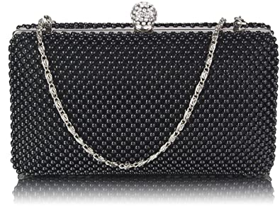 4dd84d64836be4 Beaded Clutch Bag Womens Pearl Evening Handbag For Party Wedding Clubs New  Arrival , Black