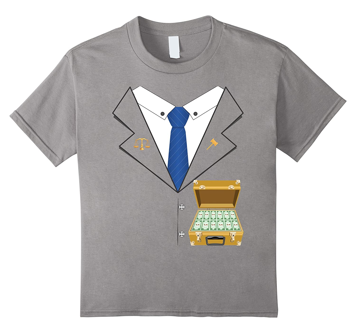 Funny Lawyer Halloween Costume T-shirt - Money Briefcase