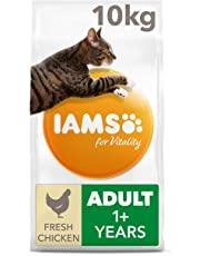 Iams for Vitality Cat Food with Fresh Chicken for Adult Cats, 10 kg
