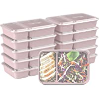 Bentgo Prep 2-Compartment Meal-Prep Containers with Custom-Fit Lids - Microwaveable, Durable, Reusable, BPA-Free…