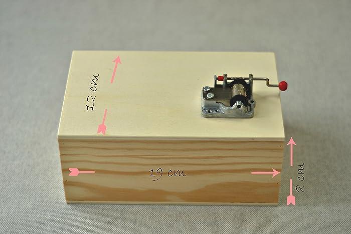 Pack DIY para hacer tu propia caja de música. Contiene manivela musical y una caja