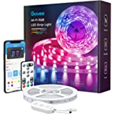 Govee Smart LED Strip Lights, 16.4ft Wi-Fi LED Light Strip with App and Remote Control, Works with Alexa and Google Assistant