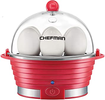 Chefman Rapid Maker Steamer Poacher 6 Egg Cap