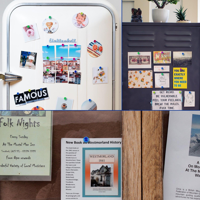 ONSON Juego de 24 imanes de nevera para pizarra, imanes de empuje para mapas, pizarras, calendarios y refrigeradores, multicolor: Amazon.es: Hogar