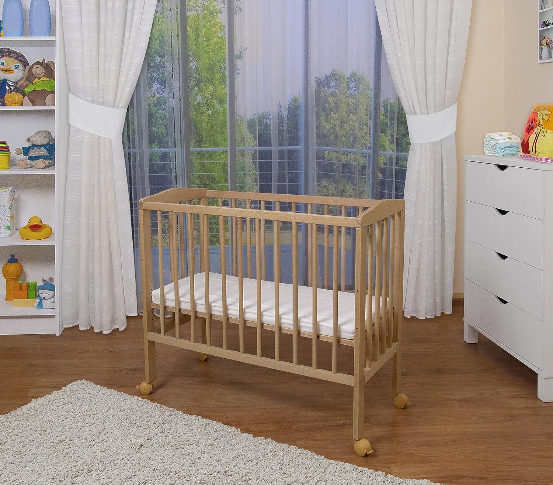 Baby bed extension uk - Waldin Baby Bedside Cot Co Sleeping Height Adjustable Untreated Amazon Co Uk Baby