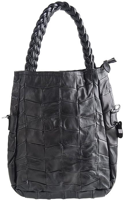 3dd068f328de Pulama Womens Soft Leather Shoulder Bags Tote Lambskin Handbags -  Convertiable Satchel 2 In 1 Designer - Vintage Handmade Plait Handles (Black)   Amazon.ca  ...