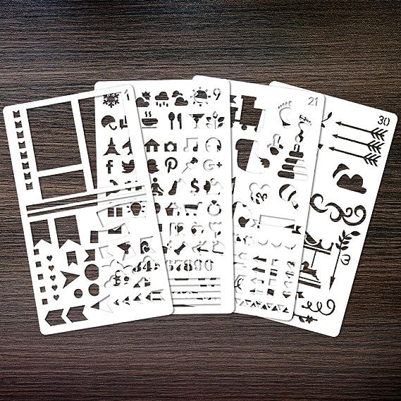 Zeichenschablonen, 30 Stück schablonen bullet journal ...