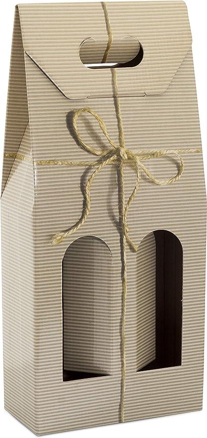 Estuche para botellas de vino - 10 UNIDADES (Lazo, 2 Botellas): Amazon.es: Oficina y papelería