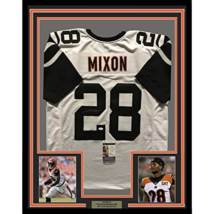 best service 9dee9 8c8d3 Framed Autographed/Signed Joe Mixon 33x42 Cincinnati Bengals ...