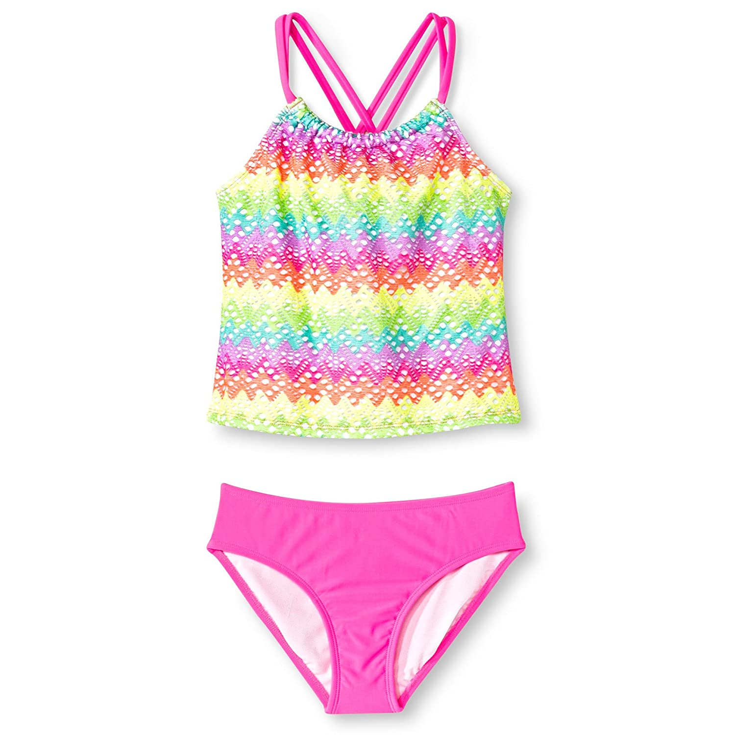 Circo Girls' 2-Piece Ombre Design Crochet Tankini Set