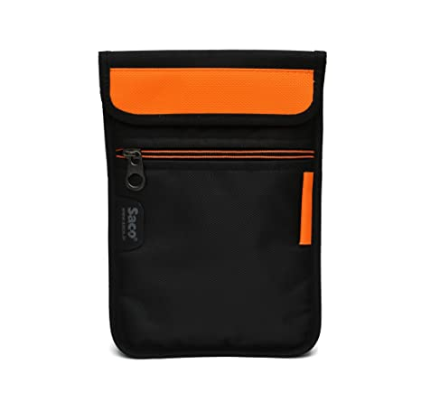 Saco Soft Durable Pouch for iBall Performance Slide 3G 6095 D20 Tablet   Orange Tablet Accessories