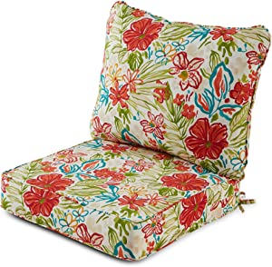 Greendale Home Fashions AZ7820-BREEZE Garden Outdoor 2-Piece Deep Seat Cushion Set