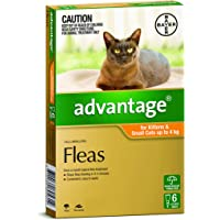 Advantage Flea Treatment for Kittens and Small Cats, Orange, 6 Pack